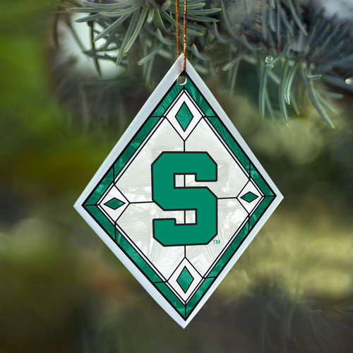 NCAA - Michigan State Spartans Art Glass Ornament