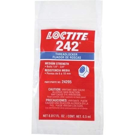 24205 242 Threadlocker (Medium Strength), Blue, 0.5 Ml Capsule, Manufacturer P/N : 24205 By Loctite