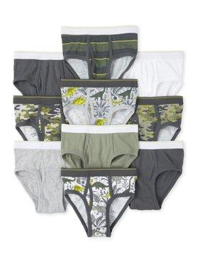 The Children's Place Big Boy Underwear, 10 Pack Briefs (Little Boys & Big Boys)