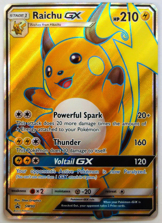 Pokemon Karten Gx Pikachu.Pokemon Raichu Gx Sm90 Promo Ultra Rare Nm M