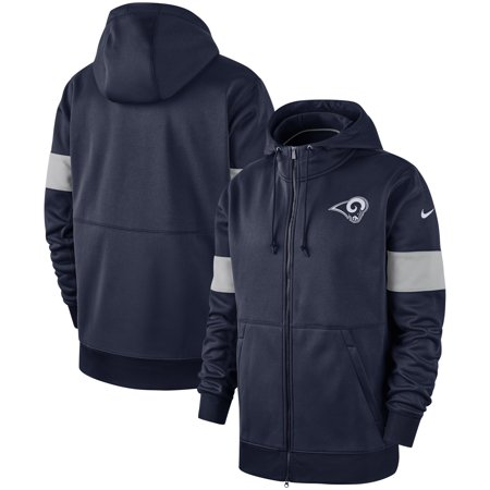 Nike Full Zip Sweatshirt (Los Angeles Rams Nike Sideline Performance Full-Zip Hoodie - Navy)