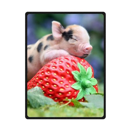 CADecor Pig Fleece Blanket Throw Blanket 58x80 inches - Pig In A Blanket Halloween