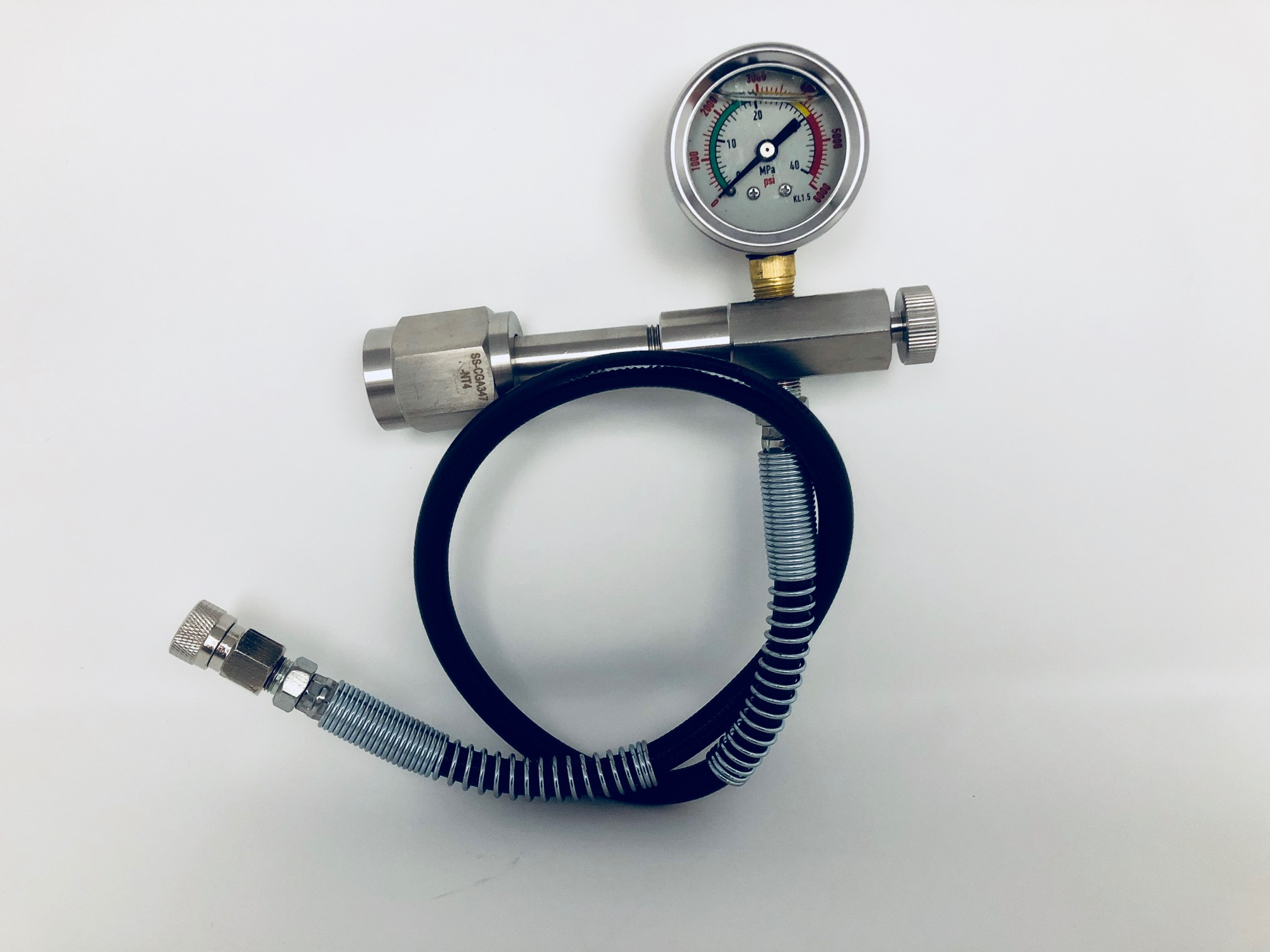 """SCBA Paintball Fill Station HPA PCP Charging Adaptor 24"""" Microbore Hose CGA347 by"""