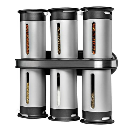 Honey Can Do Zero Gravity Wall-Mount Magnetic Spice Rack ()