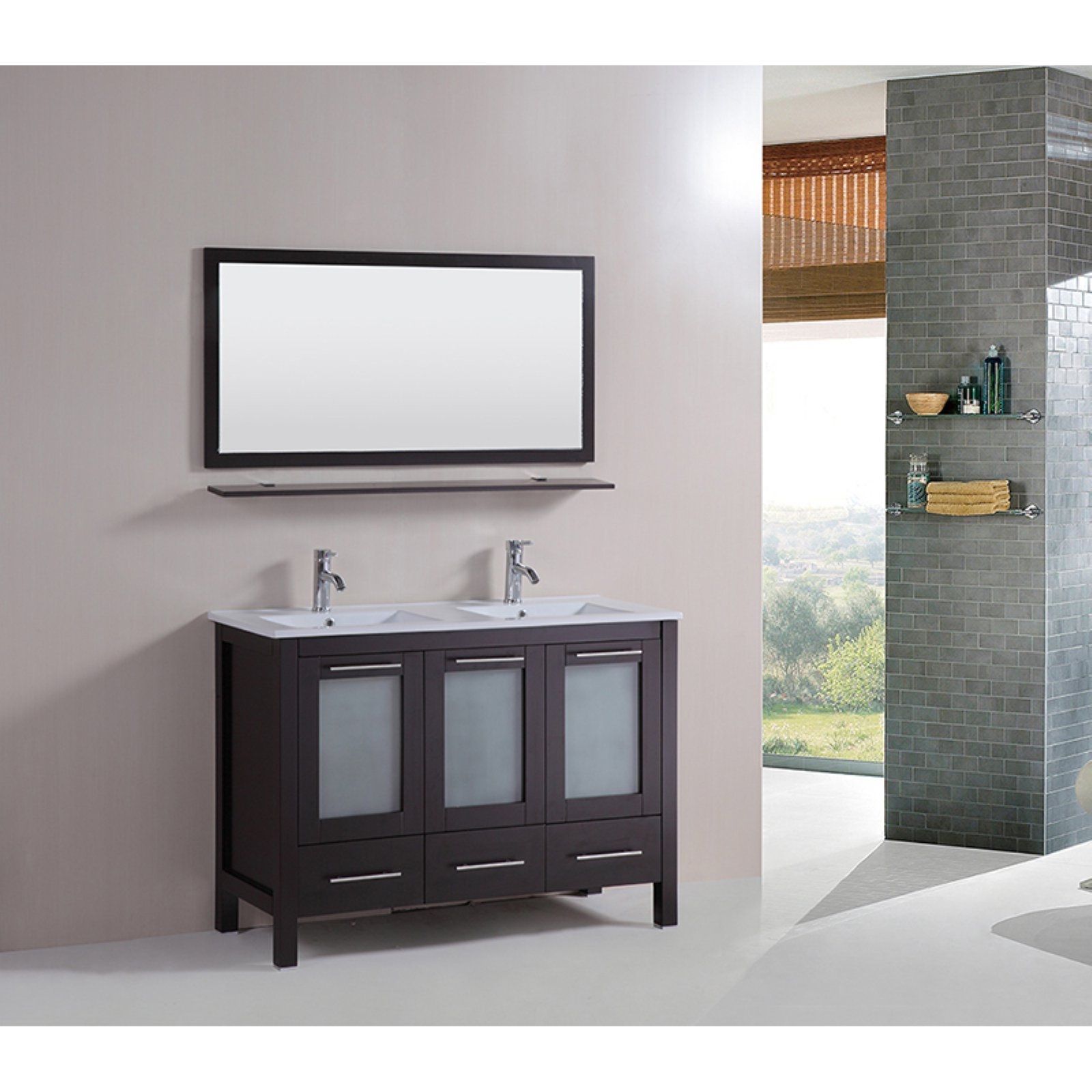 Kokols Sabrael 48 in. Double Bathroom Vanity Set