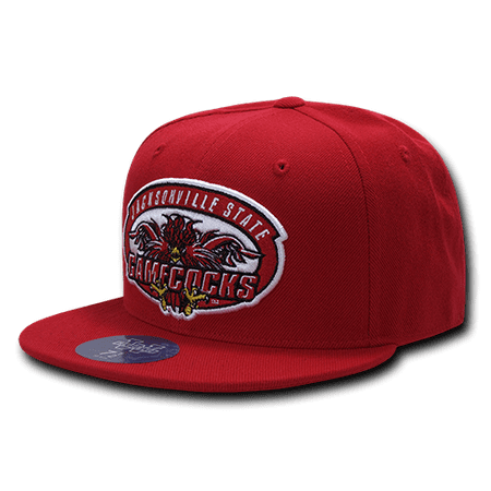 NCAA JSU Jacksonville State University Freshmen College Fitted Caps Hats 6 7/8 Red