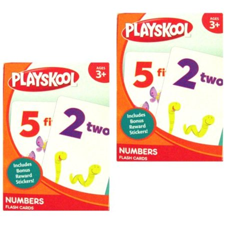 PLAYSKOOL Pre-K Numbers Flash Cards 2 Boxes of 36 each, Learn Your Numbers