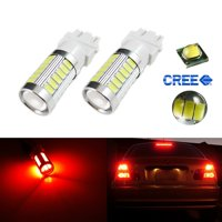 Xotic Tech 1 Pair White 3157 DRL 33-SMD For Daytime Running LED Light bulbs Lamps 4114 4157NA 3047
