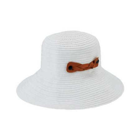 a7fa69657d059 San Diego Hat Company - Women s San Diego Hat Company Packable Ribbon  Crusher Medium Brim Hat RBM5557 White One Size (21) - Walmart.com