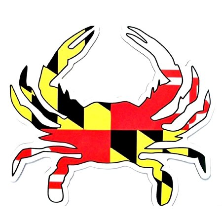 Jersey Car Magnet - Maryland Flag Crab Shaped Car Magnet