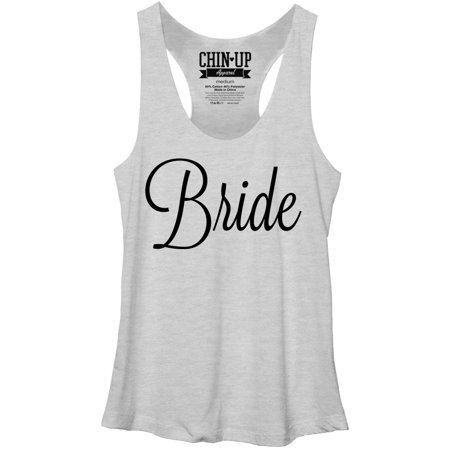 Chin Up Women's Bridal Racerback Tank Top for $<!---->