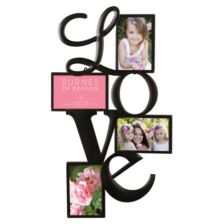 Nielsen Bainbridge Burnes of Boston Love Collage Picture Frame with 4 Openings - Live Photo Frame