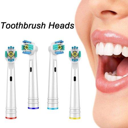 Chainplus Oral B 3D Replacement Brush Heads, Complete Care Replacement Tooth Brush Heads, 4 Count, EB18-P - image 3 de 8