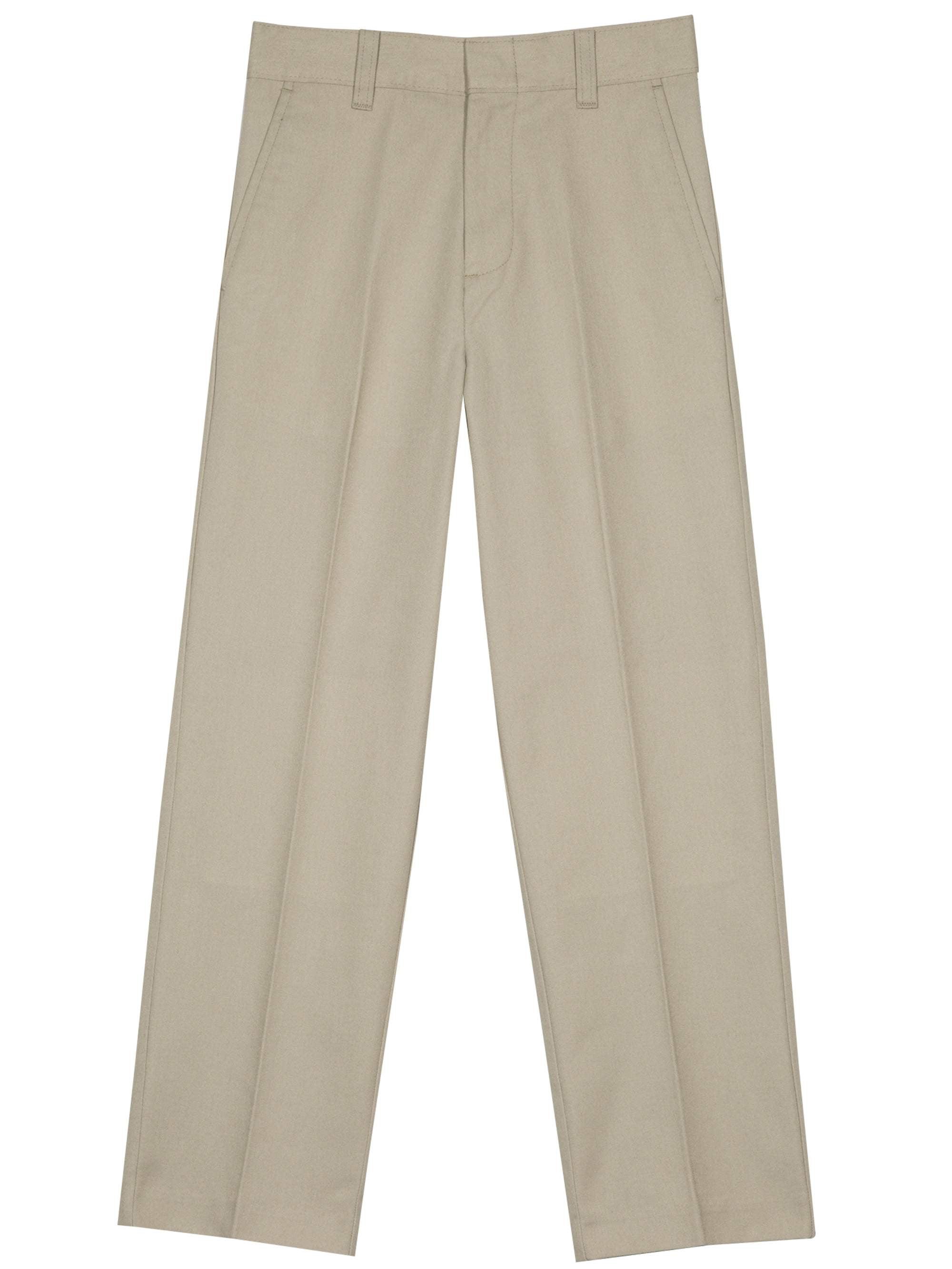 Boys' Flat Front Slim Pant