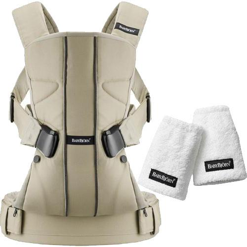 Baby Bjorn Baby Carrier One with Teething Pads - Khaki Cotton