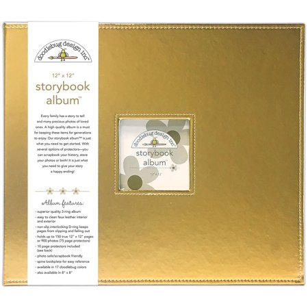 "Doodlebug Storybook Metallic Album 12""X12""-Gold Metallic"