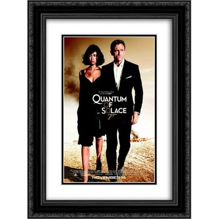 James Bond 007 Quantum of Solace 20x24 Double Matted Black Ornate Framed Movie Poster Art (007 James Bond Quantum Of Solace Pc)