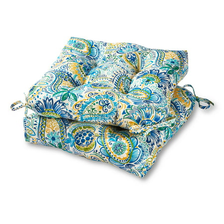 Greendale Home Fashions Painted Paisley 20'' Outdoor Chair Cushion, Set of 2