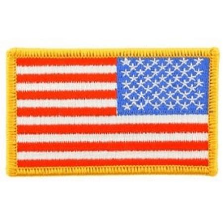 USA Stars   Stripes Embroidery Iron On Patch - USA Flag (Right Arm Backwards)  - Walmart.com 267394b0700