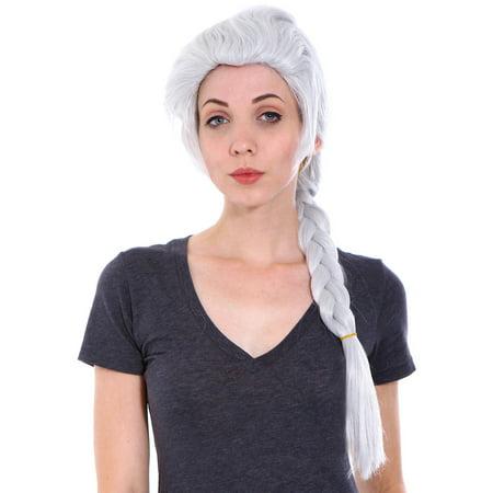 Simplicity Frozen Princess Elsa Inspired Cosplay Wig, Silver White](Frozen Elsa Wig)