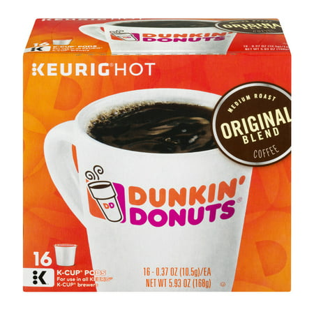 Dunkin Donuts Original Blend Coffee K Cup Pods   16 Ct