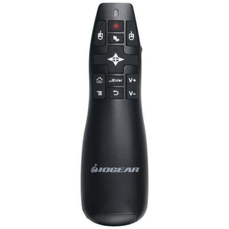 IOGEAR GME430R RedPoint Pro 2.4GHz Gyroscopic Presentation Mouse with Laser