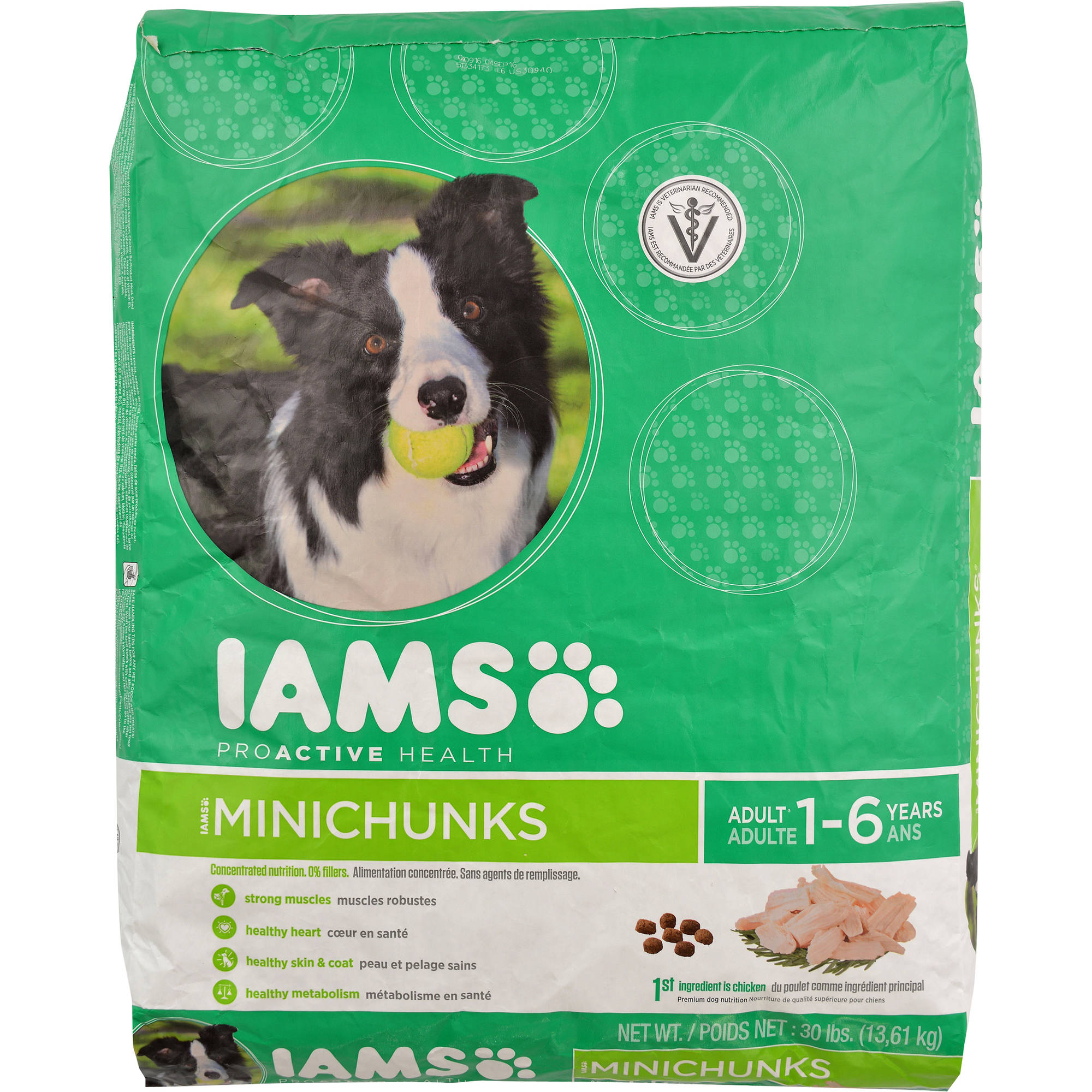 Iams ProActive Health Adult MiniChunks Premium Dry Dog Food 30 lbs