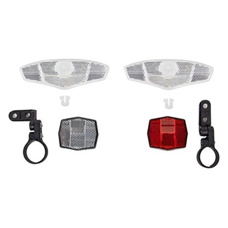 Deluxe Reflector Kit, 2 short wheel reflectors1-front reflector with handlebar mount1-rear reflector with 27.2 clamp mount By Sunlite