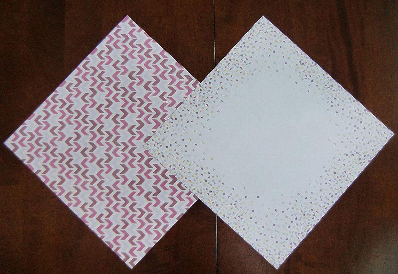 "Craft Smith BLACKBERRY LEMON 12 DOUBLE-SIDED 12/""x12/"" Printed Cardstock Scrapbook"