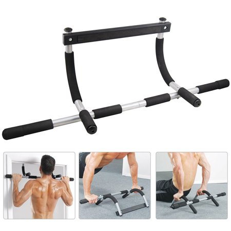WALFRONT A generation of Multi-function Pull-ups on the Door on the Horizontal Bar, Heavy Duty Doorway Chin Pull Up Bar Exercise Fitness Gym Home Door Mounted (Double Curved Arm Single