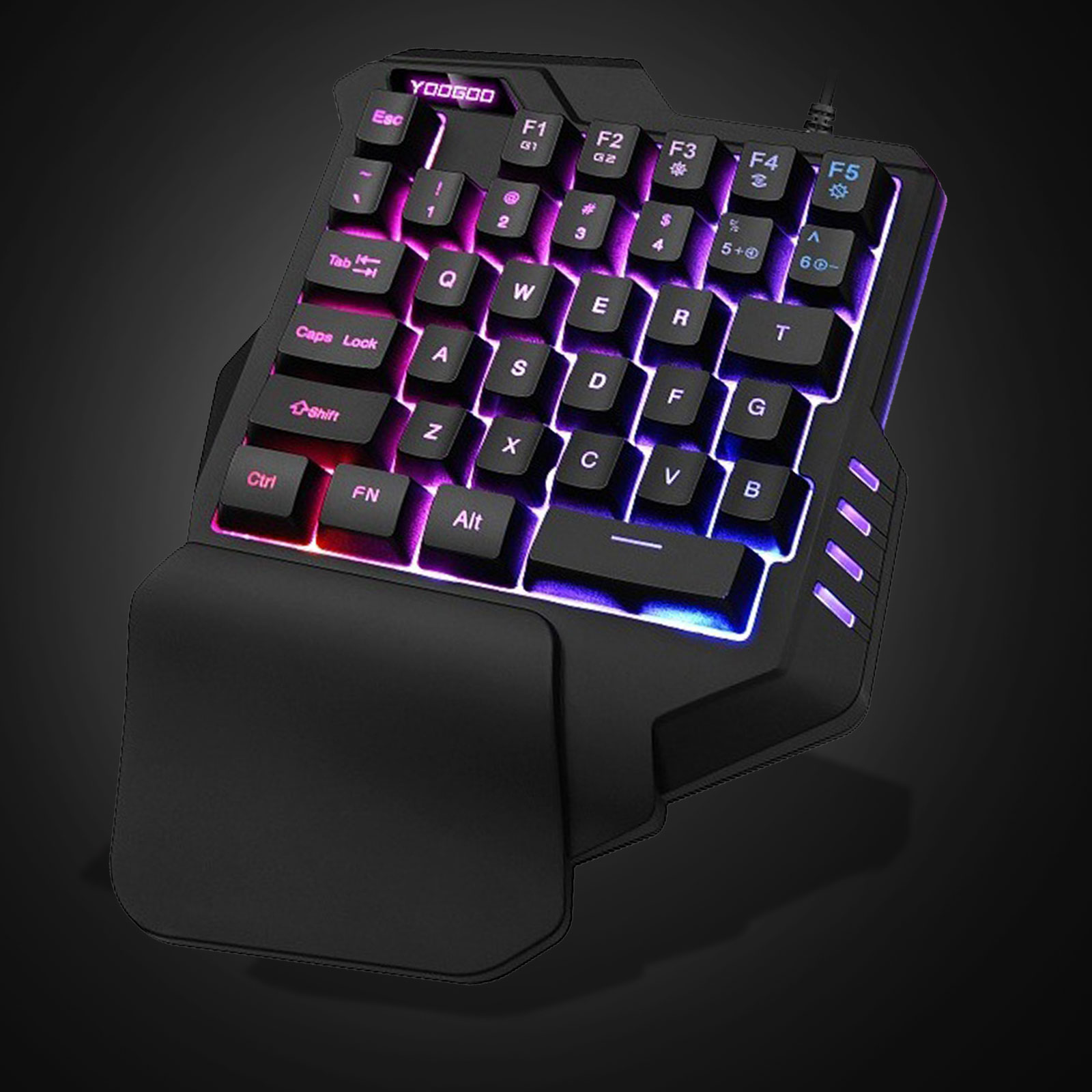 One Handed Keyboard, TSV One-Handed Mechanical Gaming Keyboard RGB LED Backlit Portable Mini Gaming Keypad for LOL/PUBG/WOW/Dota/OW/FPS Game
