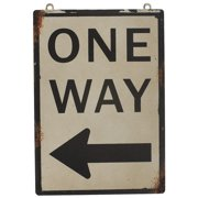 Attraction Design Home ''One Way'' Antique Wisdom Sign Wall D cor