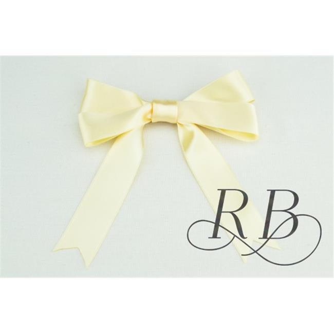 Ribbon Bazaar 6612 2 in. Luxious Satin Ribbon, Ivory - 25 Yards