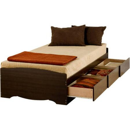 Espresso Twin Xl Mate 226 S Platform Storage Bed With 3