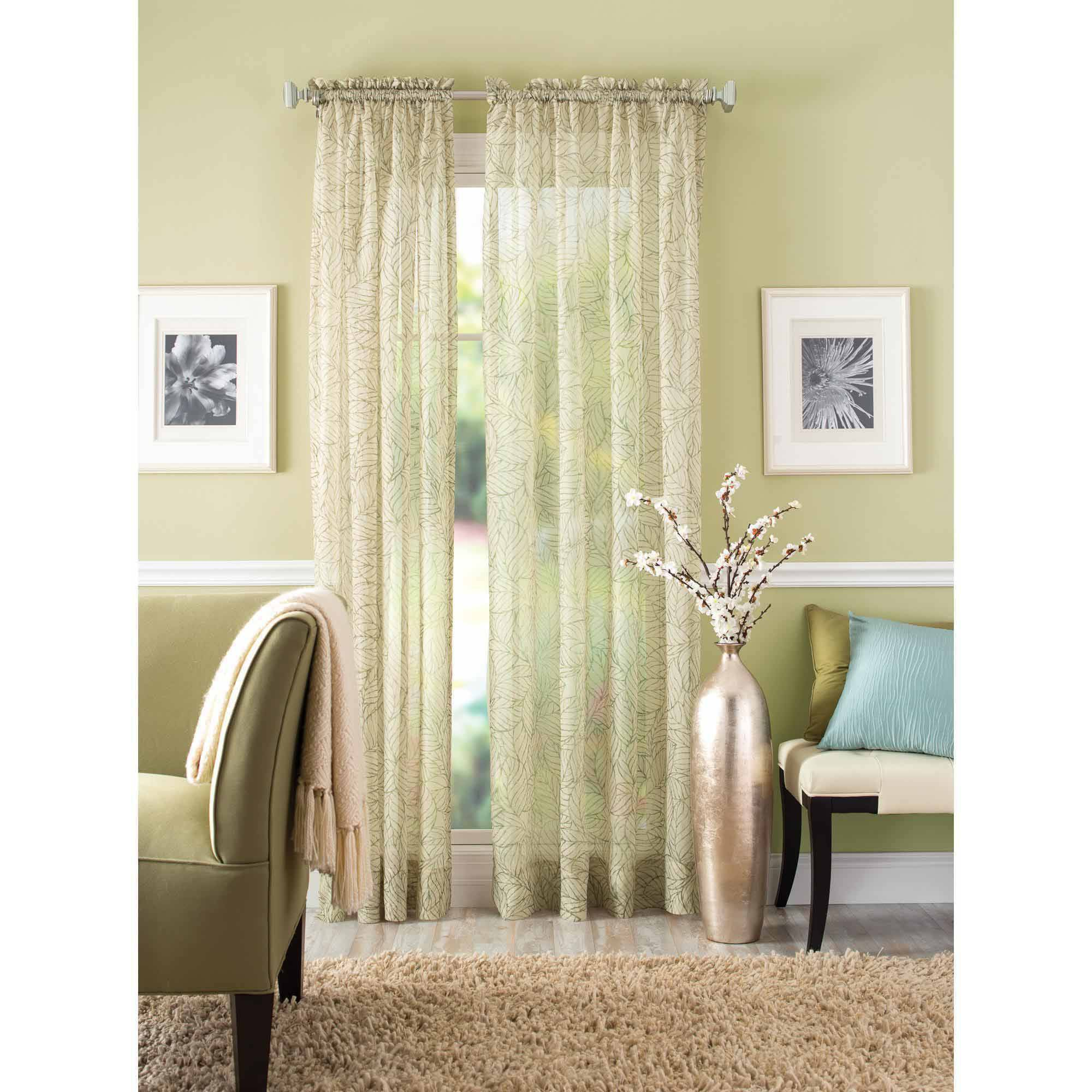 Better Homes and Gardens Crushed Leaf Window Curtain Panel by Maytex Mills