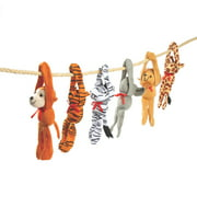 Plush Long Arm Zoo Animals W/Velcro Paws - Party Favors - 12 Pieces