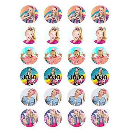 Abby Girl Cupcakes (Jojo Siwa ~ Two Dozen ~ Cupcake Topper ~ Edible Frosting  Cupcake)