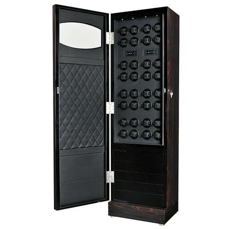 Volta Rustic 32 Automatic Watch Winder Cabinet 31 560321 Ebony Rosewood