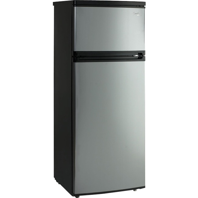 Avanti 7.4 Cu Ft Apartment Refrigerator, Black/Platinum