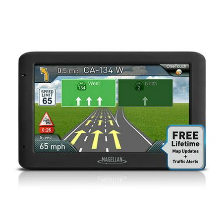 Roadmate 1200 (Refurbished Magellan RoadMate 5635T-LM 5 Inch (US, Canada & Puerto Rico) Automotive GPS w/ Lifetime Map & Traffic Alerts )