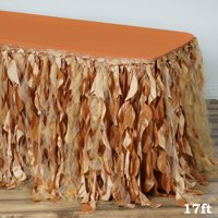 Efavormart Enchanting Curly Willow Taffeta Table Skirt for Kitchen Dining Catering Wedding Birthday Party Decorations Events