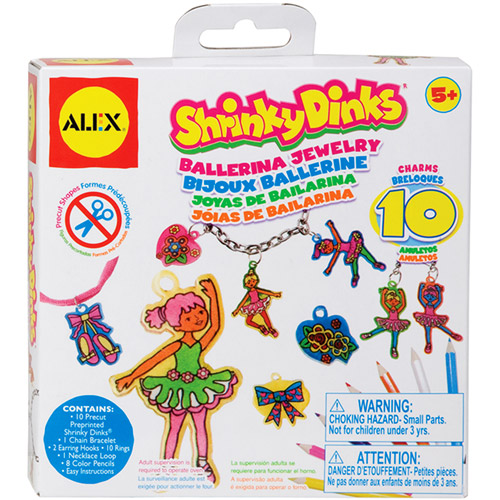 Alex Shrinky Dinks Minis - Ballerina Jewelry Multi-Colored