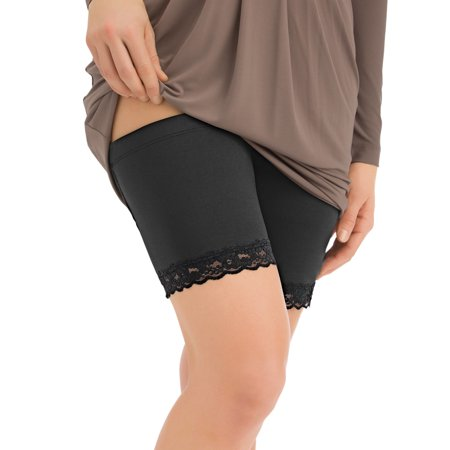 Women's Lace Trim Thigh Bands - Stops, Prevents Chafing & Rash, X-Large,