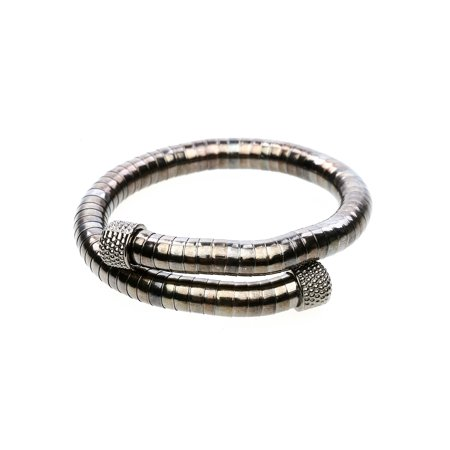 - Women's Metal Coil Bracelet with Chrome Ends