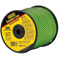 Oregon 37600 Trimmer Line, 0.08 in Diameter X 1215 ft Length, 3 lb Spool, Copolymer per SPOOL