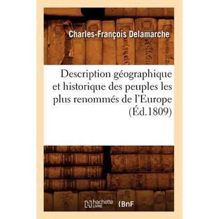 Delamarche Map (Description G�ographique Et Historique Des Peuples Les Plus Renomm�s de l'Europe (�d.1809))