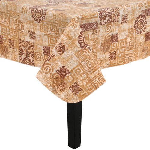 Mainstays Southwest Vinyl Tablecloth, Brown