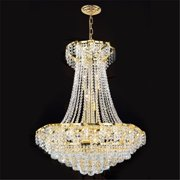 Worldwide Lighting W83034G26 Empire Collection 15 Light Gold Finish with Clear Crystal Chandelier
