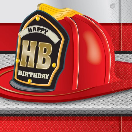 (3 Pack) Firefighter Birthday Party Lunch Napkins, 16ct