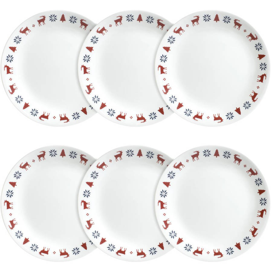 Corelle Livingware Lunch Plate, Nordic Blue, Set of 6